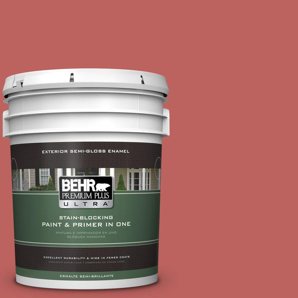 5-gal. #170D-6 Rose Wine Semi-Gloss Enamel Exterior Paint