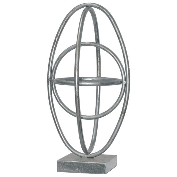 Urban Trends Collection 15.25 in. H Sculpture Decorative Sculpture in Silver