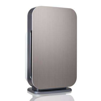 Customizable Air Purifier with HEPA-Pure Filter to Remove Allergies and Dust in Brushed Stainless