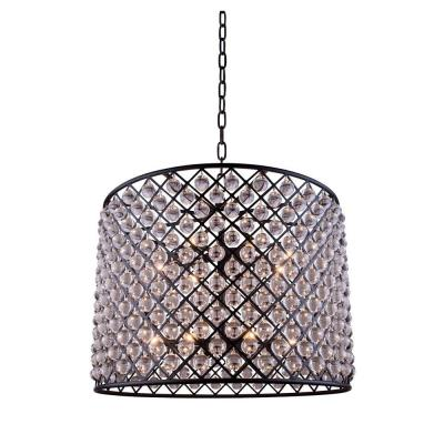 Madison 12-Light Mocha Brown Chandelier with Clear Crystal