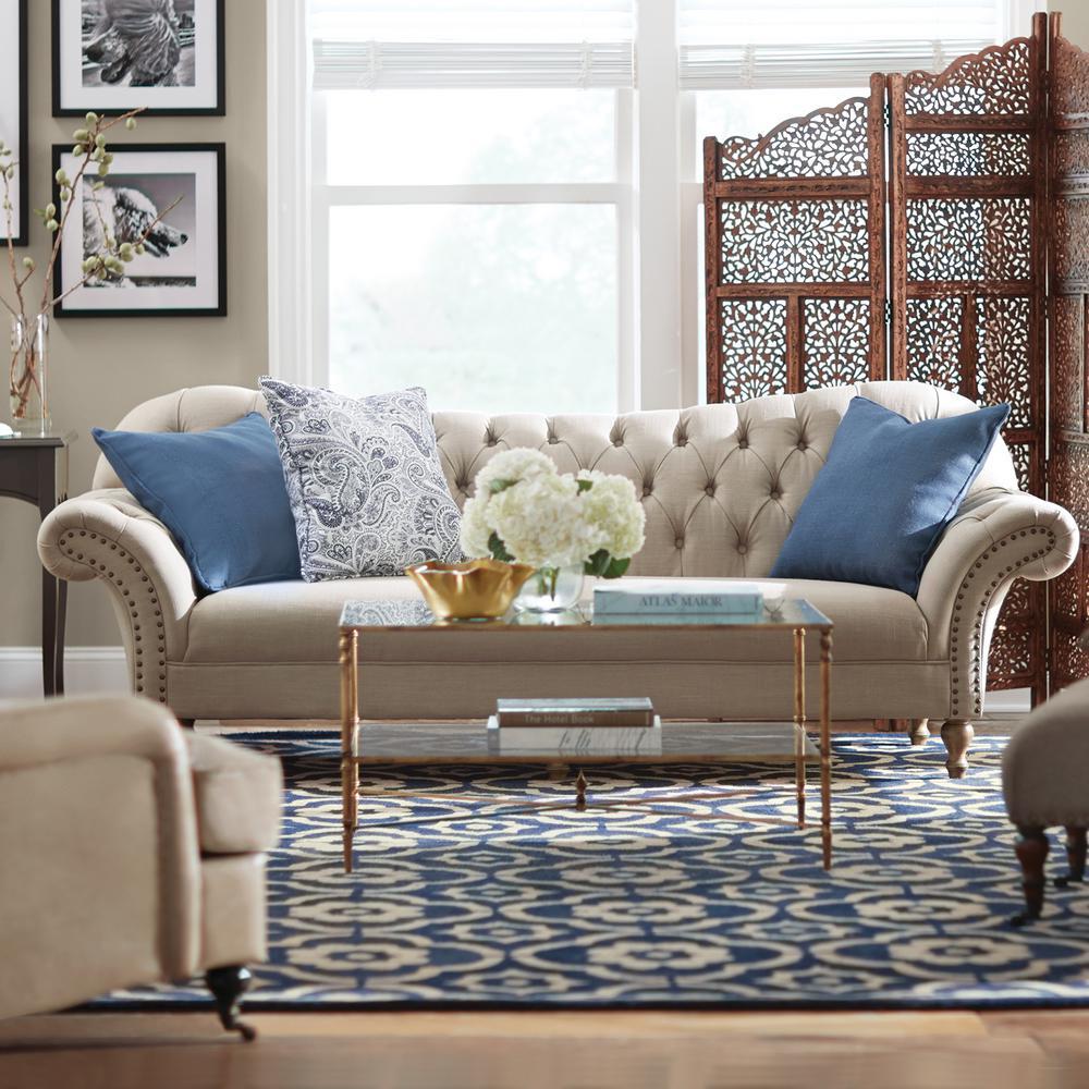 Arden Dark Beige Linen Sofa