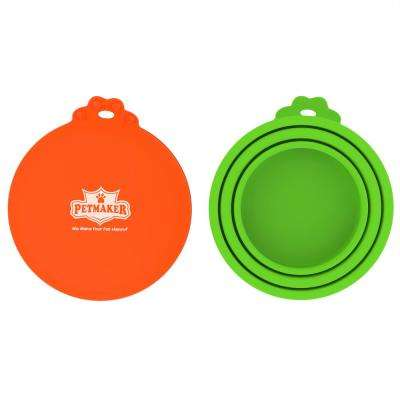 Silicone Pet Food Can Lids (2-Pack)