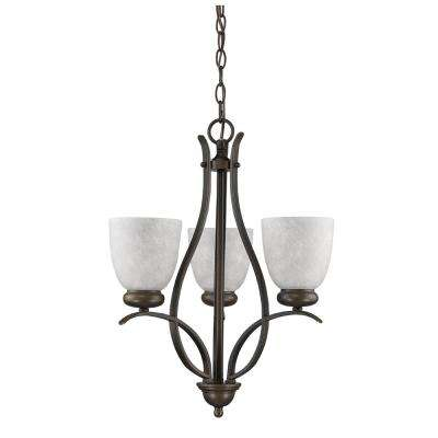 Alana Indoor 3-Light Oil Rubbed Bronze Mini Chandelier with Glass Shades