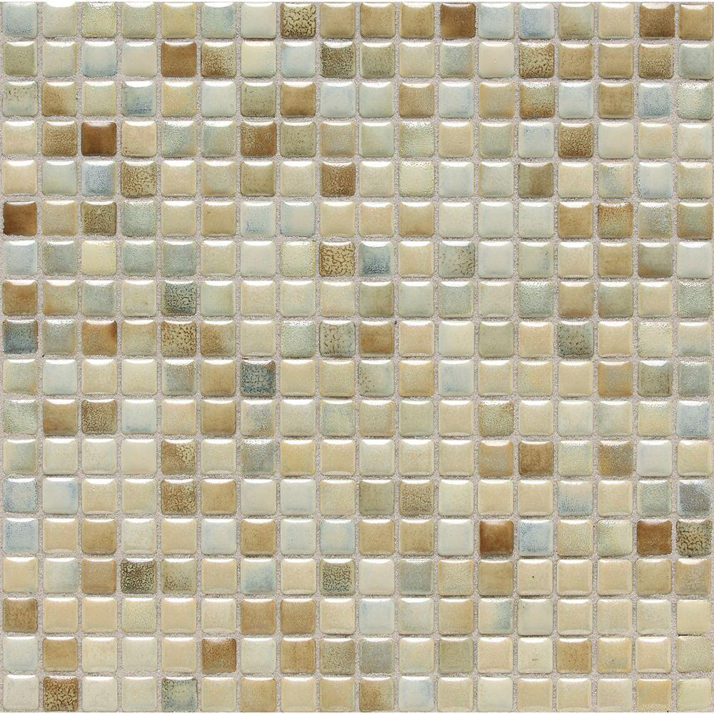 Daltile Fashion Accents Sand 12 in. x 12 in. x 8 mm Porcelain Mosaic ...