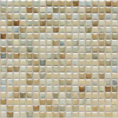 Fashion Accents Sand 12 in. x 12 in. x 8 mm Porcelain Mosaic Wall Tile