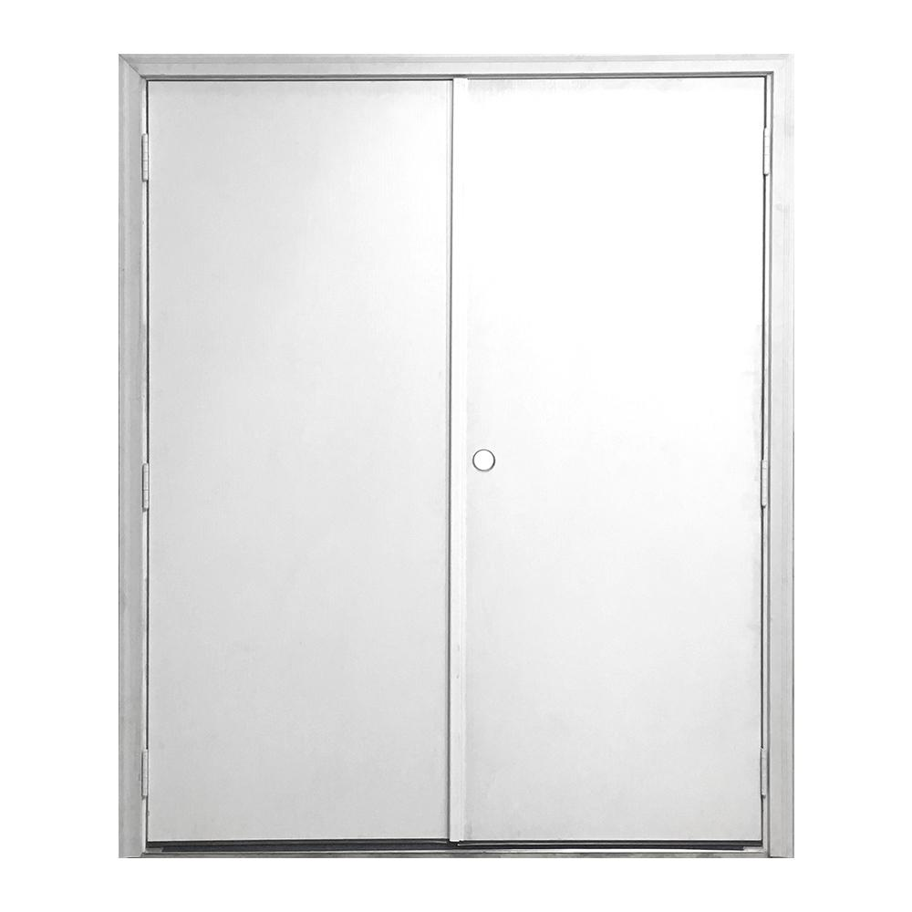 60 in. x 72 in. Garden Shed Flush White Primed Left-Hand