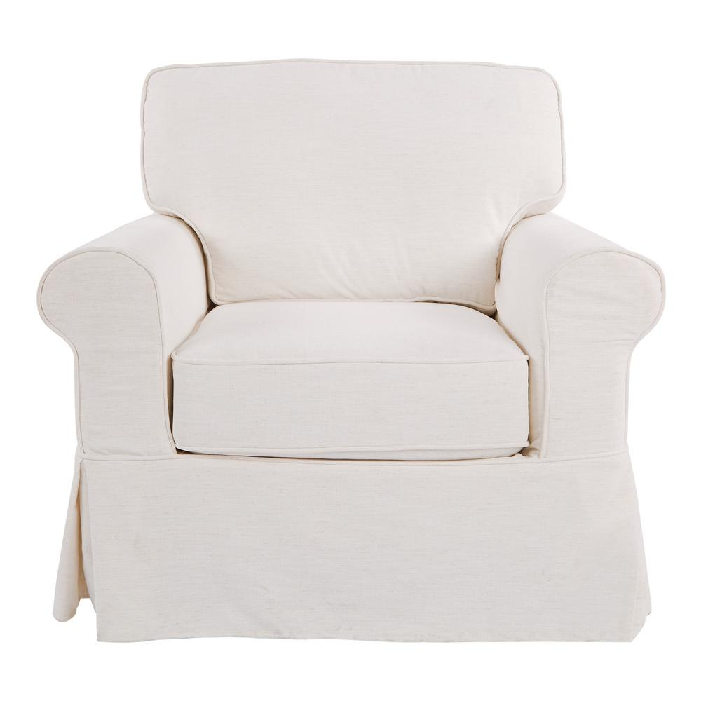 Osp Home Furnishings Ashton Chair With Ivory Slip Cover Asn51 S65 The Home Depot
