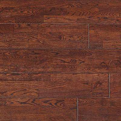 White Oak Saddle 5/8 in. Thick x 4-3/4 in. Wide x Varying Length Click Solid Hardwood Flooring (15.5 sq. ft. / case)