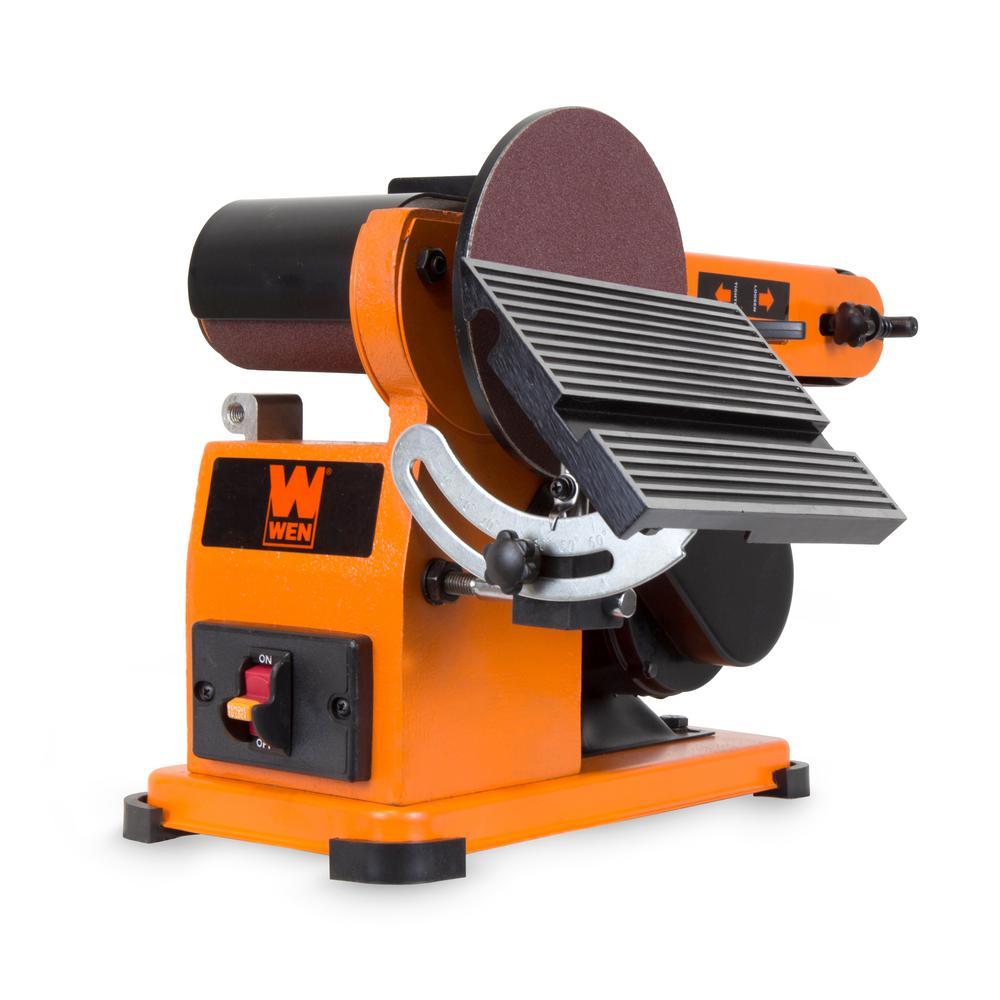 Wen 4x36 In Belt 6 In Disc Corded Sander Steel Base Bench Power Tool New 618125288311 Ebay