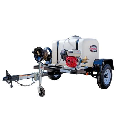 95000 3200 PSI at 2.8 GPM HONDA GX200 Cold Water Pressure Washer Trailer