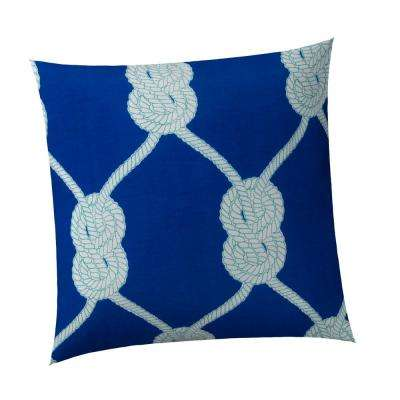 Let's Get Nauti Royal Square Outdoor Throw Pillow