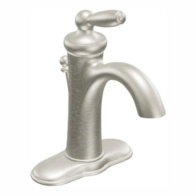 Brantford Single Hole Single-Handle High-Arc Bathroom Faucet in Brushed Nickel