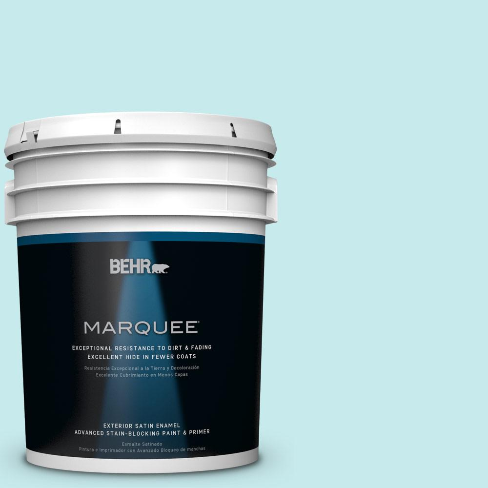 BEHR MARQUEE 5-gal. #P460-1 Morning Sky Satin Enamel Exterior Paint