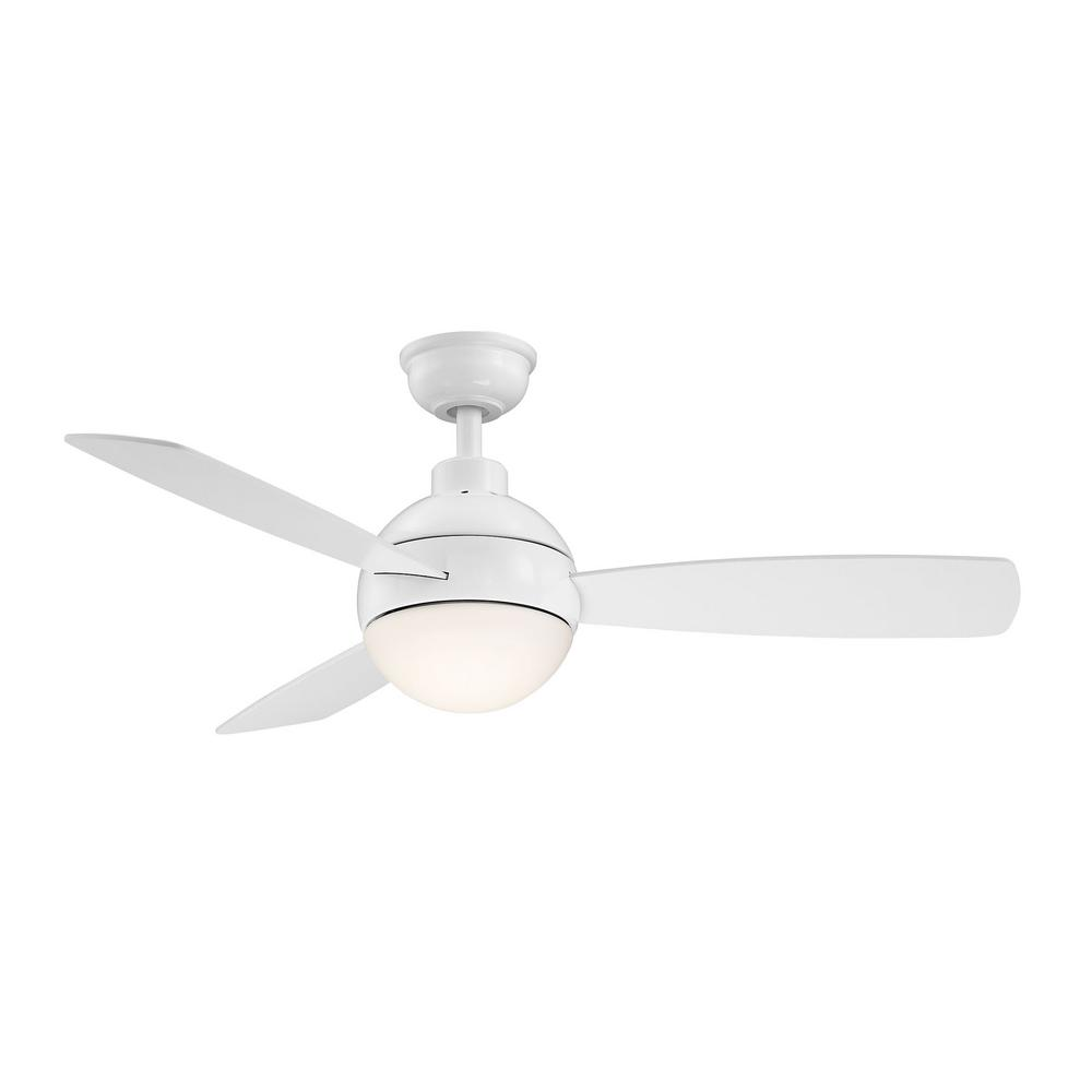 Home Decorators Collection Alisio 44 in. LED White Ceiling Fan with Light and Remote Control