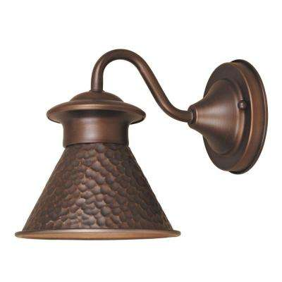 Dark Sky Kingston Collection 1-Light Antique Copper Outdoor Short Arm Wall Sconce