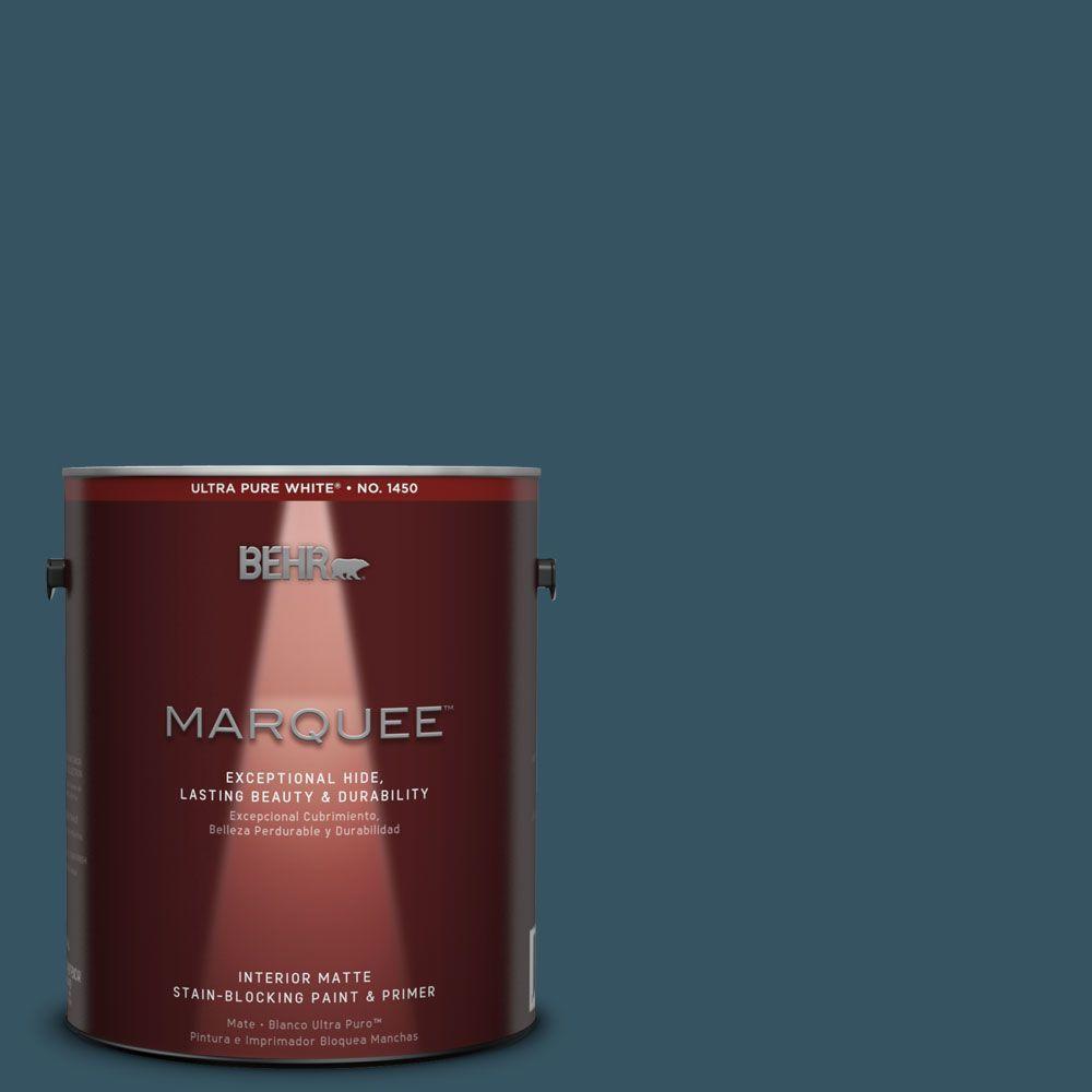 1 gal. #MQ5-24 Opera Glasses One-Coat Hide Matte Interior Paint