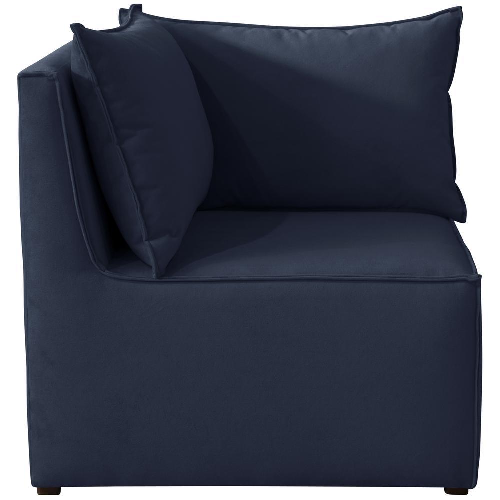 Velvet Ink French Seamed Sectional Corner Chair