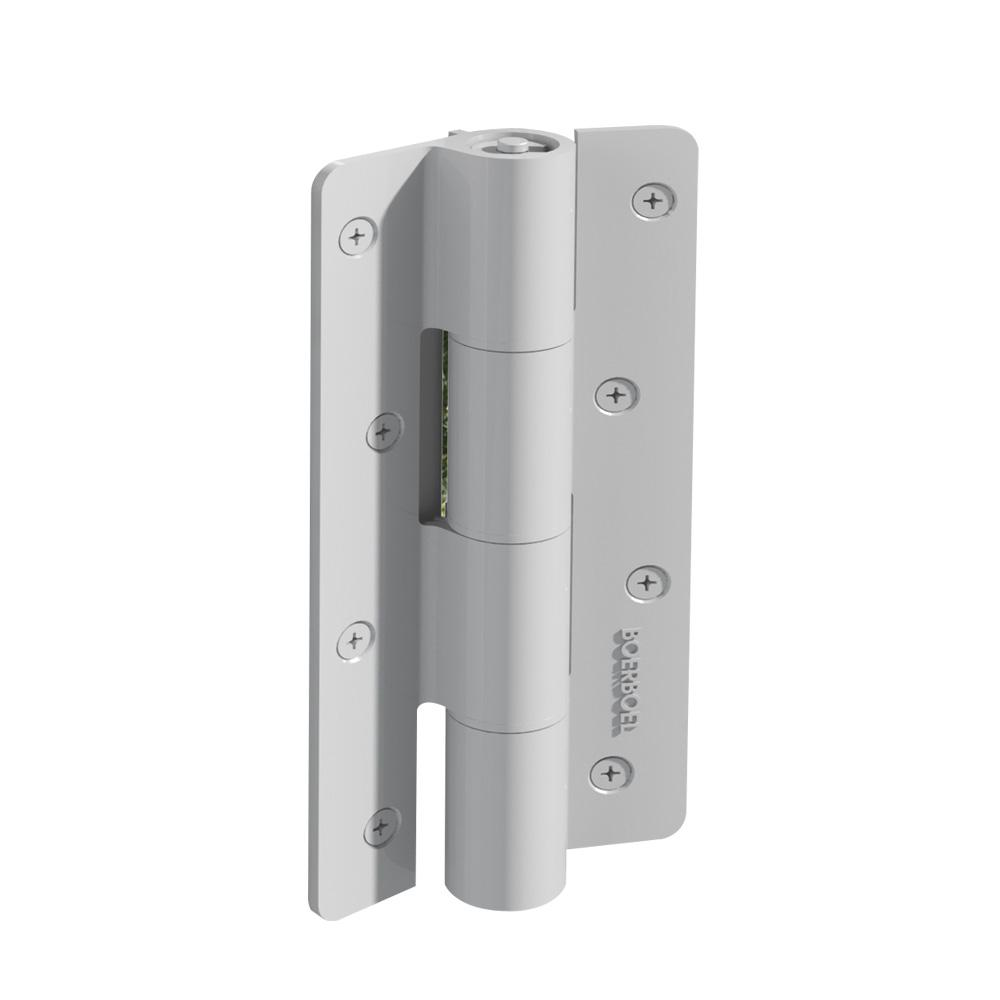 2.5 in. x 9.5 in. Aluminum White Heavy-Duty Butterfly Hinge (2-Pack)