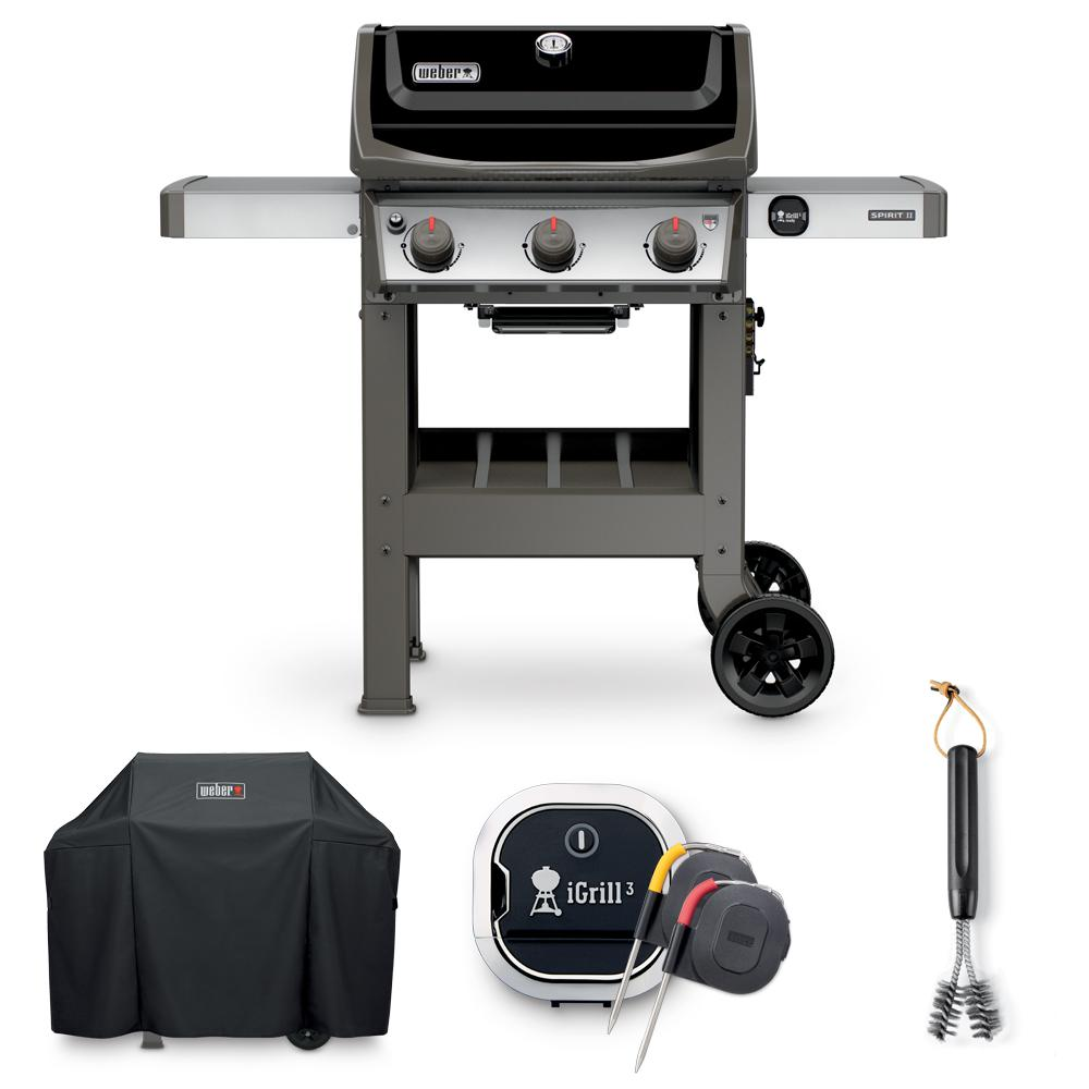 weber spirit ii e 310 liquid propane grill combo with. Black Bedroom Furniture Sets. Home Design Ideas