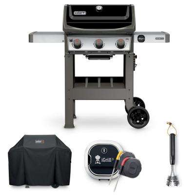 Spirit II E-310 Liquid Propane Grill Combo with Grill Brush, Cover, and iGrill 3 Thermometer