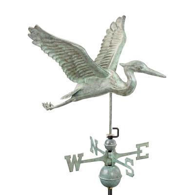 Blue Heron Weathervane - Blue Verde Copper
