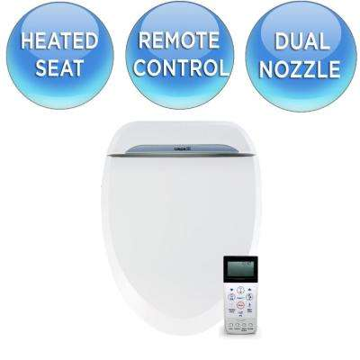 U-SPA Luxury Class Electric Bidet Seat for Round Toilet in White