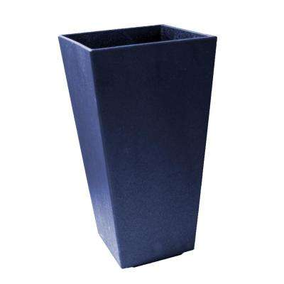 Sonata 10 in. x 20 in. Navy Rubber Self-Watering Planter