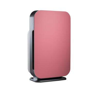 Customizable Air Purifier with HEPA-Silver Filter to Remove Allergies Mold and Bacteria in Pink