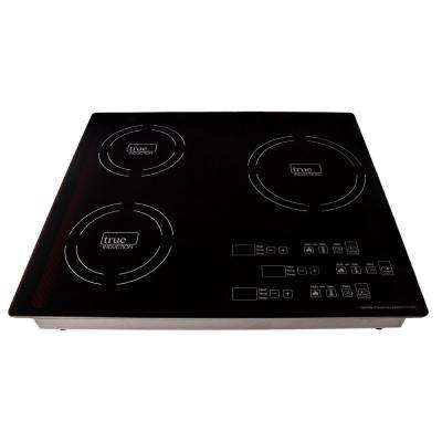 23.25 in. Triple Burner Induction Cooktop in Black