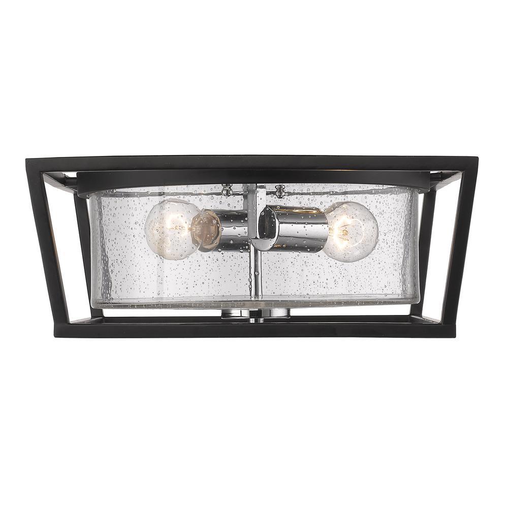 Mercer 2-Light Black Flushmount Light