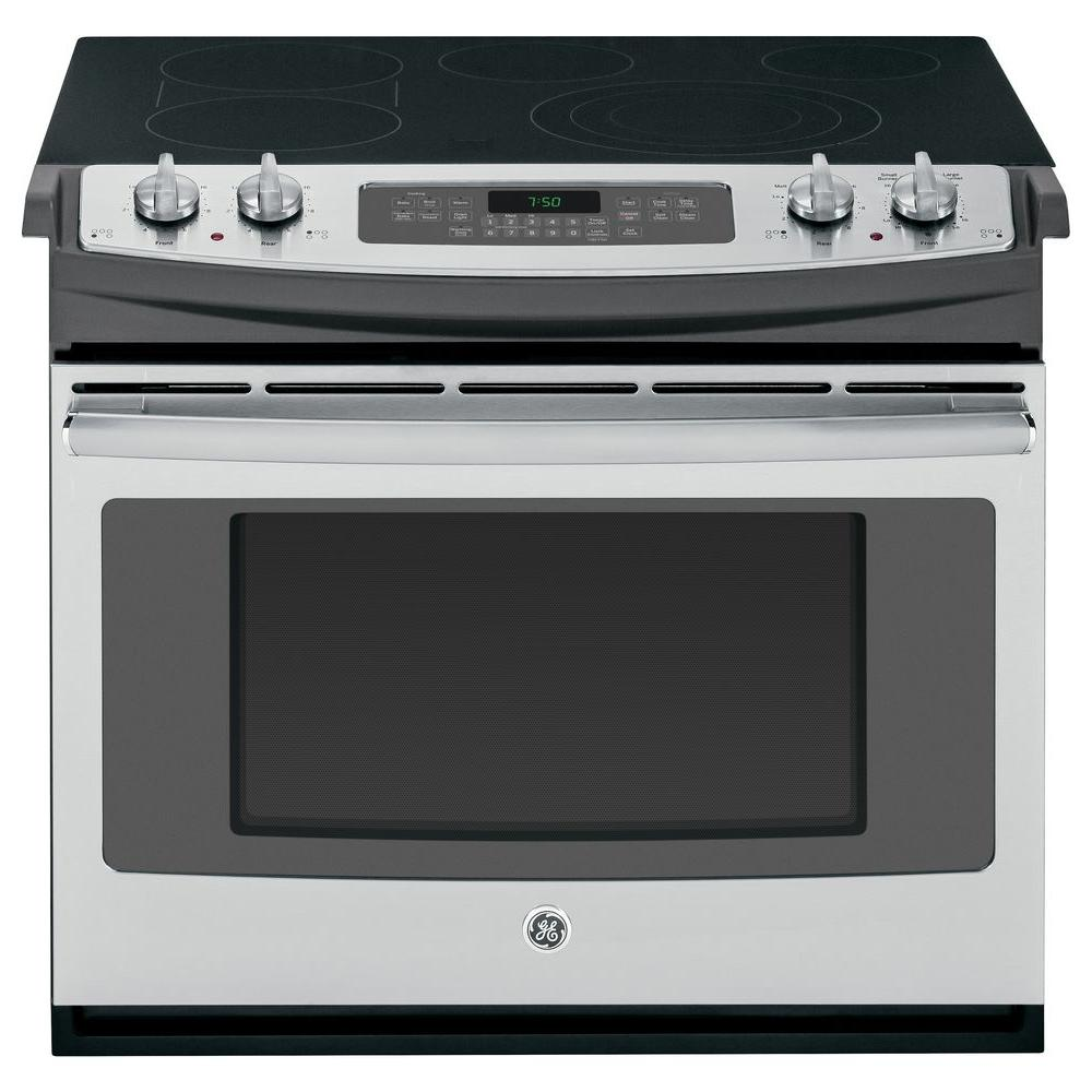 GE 4.4 cu. ft. Drop-In Electric Range with Self-Cleaning Convection Oven in Stainless Steel