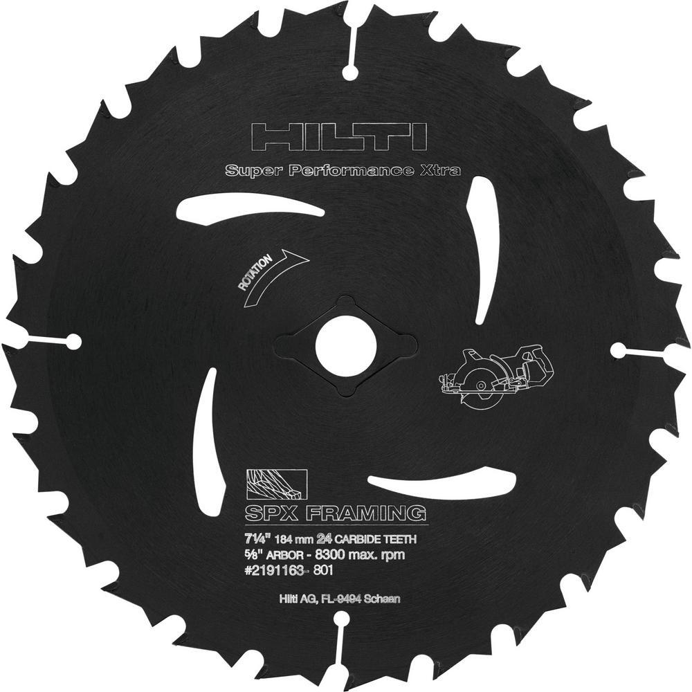 7-1/4 in. 24 Teeth Circular Saw SPX Framing Blade (5)