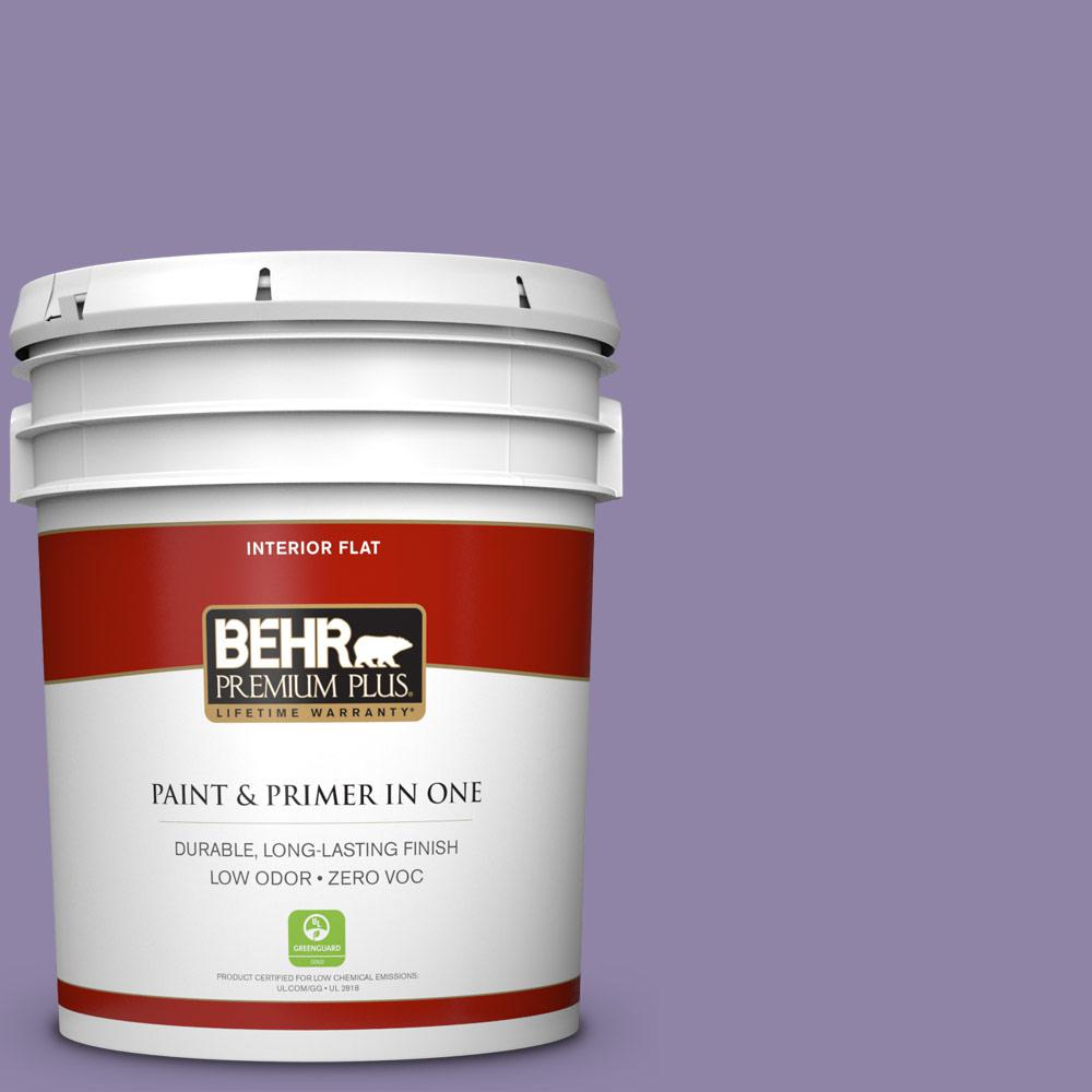 5 gal. #650D-5 Fabulous Grape Zero VOC Flat Interior Paint
