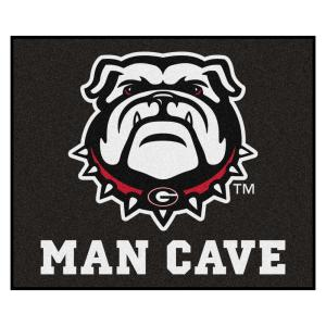 NCAA - University of Georgia 5 ft. x 6 ft. Man Cave Tailgater Indoor Area Rug