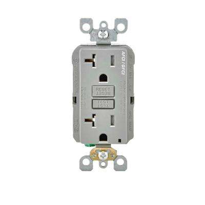 Duplex Gray Afci Electrical Outlets Receptacles Wiring. 20 125volt Afcigfci Dual Function Outlet Gray. Wiring. Dual Outlet Wiring At Scoala.co