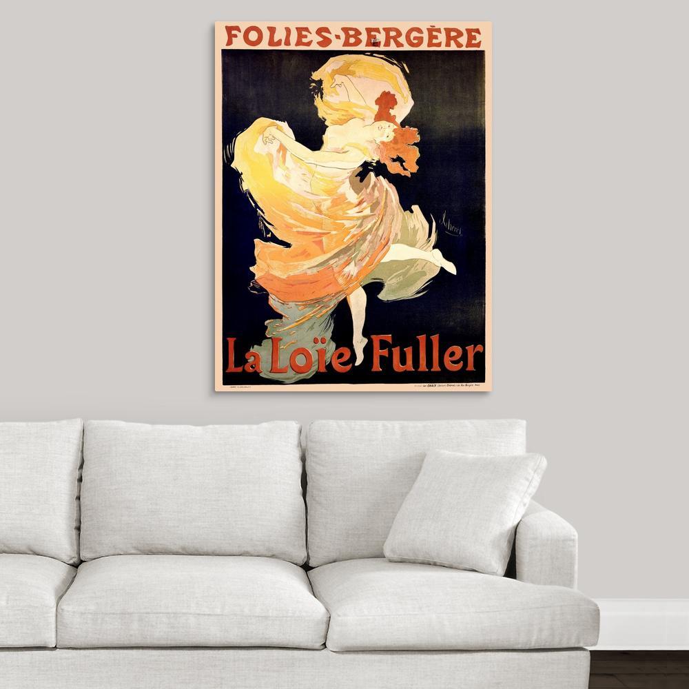 Poster Print Wall Art entitled Folies-Bergere Vintage Cabaret Advertisement