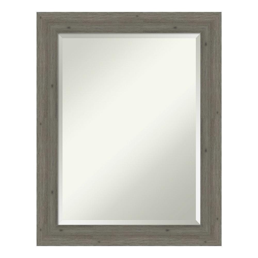 Fencepost Narrow Grey Bathroom Vanity Mirror