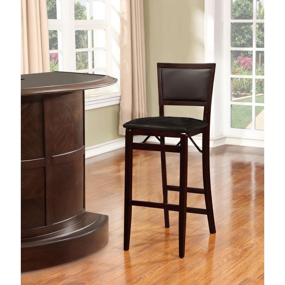 Cool Linon Home Decor Keira Espresso Folding Stool 01832Esp 01 As Inzonedesignstudio Interior Chair Design Inzonedesignstudiocom
