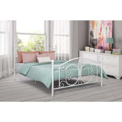 Bombay White Full Bed Frame