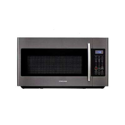 30 in. W 1.8 cu. ft. Over the Range Microwave in Black Stainless with Sensor Cooking