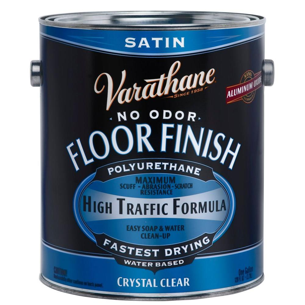 Varathane 1-gal. Clear Satin Water-Based Floor Polyurethane