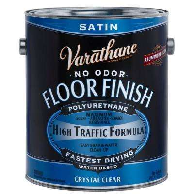 1 Gal. Clear Satin Water-Based Floor Polyurethane (Case of 2)