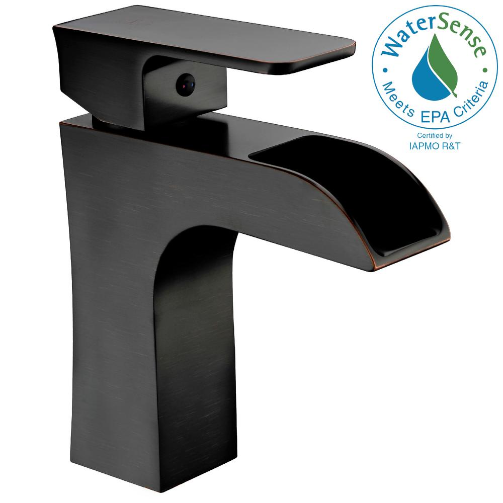 ANZZI Forza Series Single Hole Single-Handle Low-Arc Bathroom Faucet ...