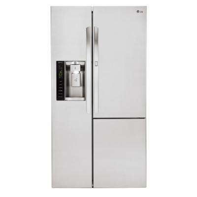 21.7 cu. ft. Side by Side Smart Refrigerator with Door-in-Door and Wi-Fi Enabled in Stainless Steel, Counter Depth