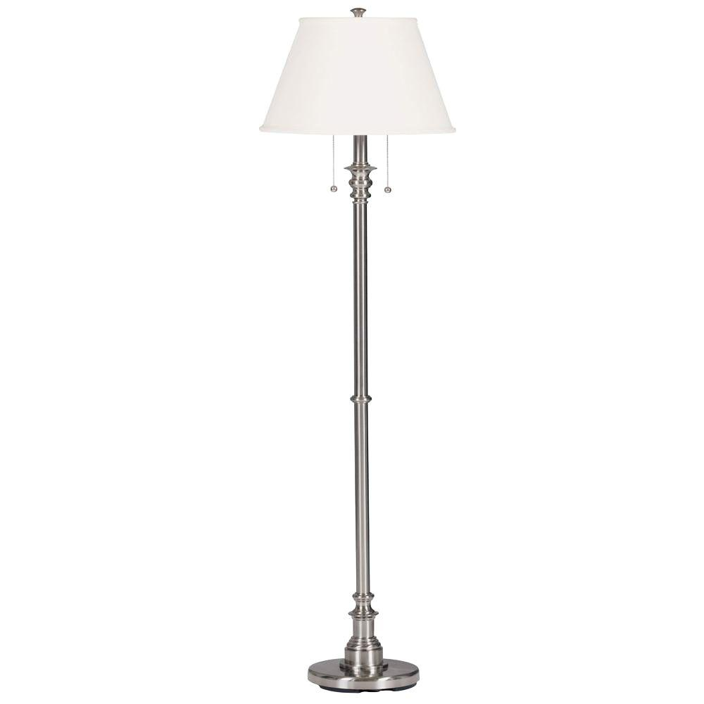Manor Brook Spyglass 60 in. Brushed Steel Floor Lamp