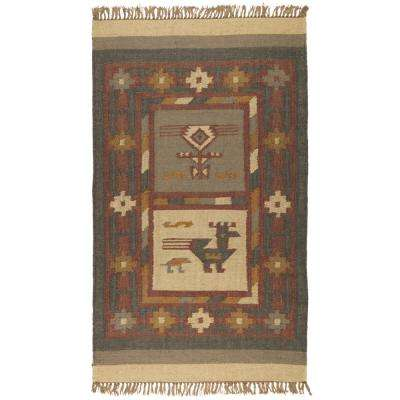 Off-White Hacienda Wool & Jute 2 ft. x 3 ft. Area Rug