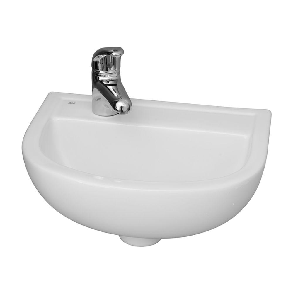 Barclay Products Compact 15 in. Wall-Mounted Bathroom Sink in White