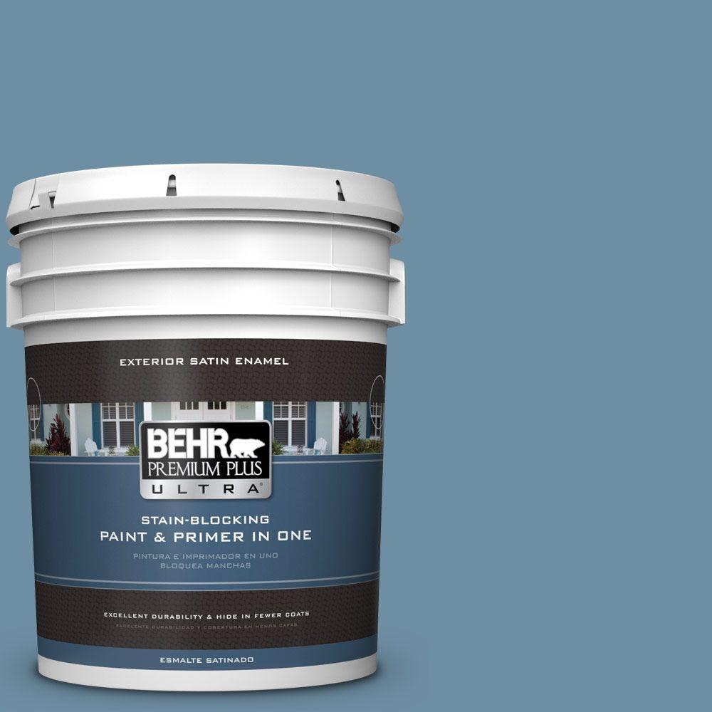 BEHR Premium Plus Ultra 5-gal. #PPU14-4 French Court Satin Enamel Exterior Paint