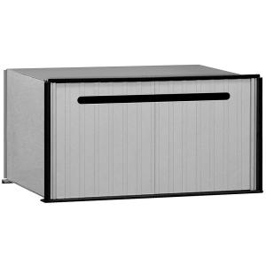 2200 Series Aluminum Drop Box With 1 Compartment