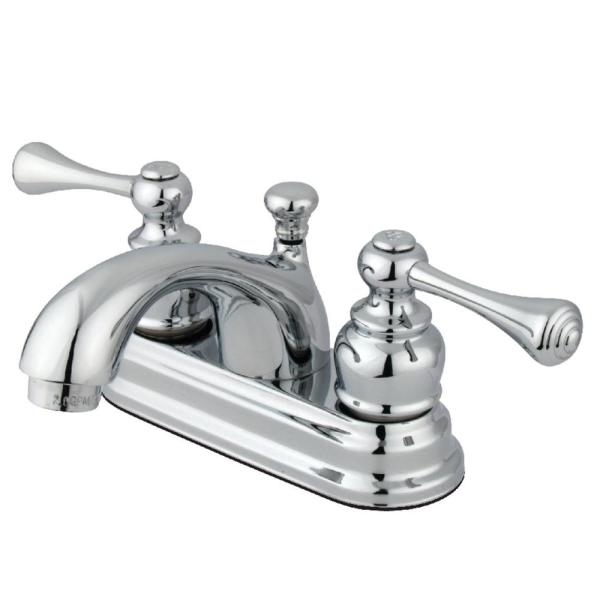 Vintage 4 in. Centerset 2-Handle Bathroom Faucet in Chrome